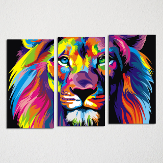 Радужный лев (pop-art)