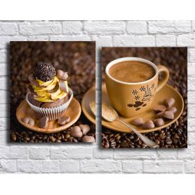 Кофе кекс и шоколад