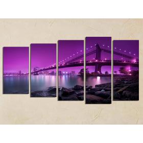 Мост под фиолетовым небом