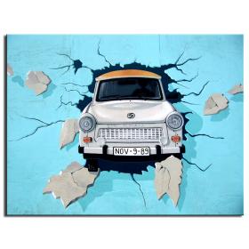"""Постер """"авто в стене"""""""