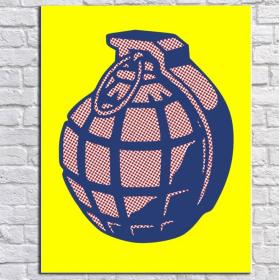 Граната - «поп арт» постер