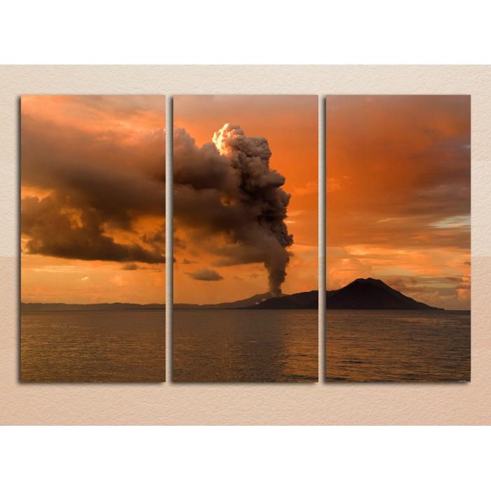 """Модульная картина """"Извержение вулкана"""""""