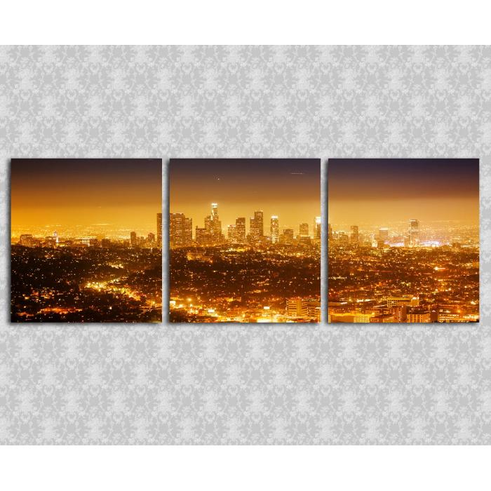 Модульная картина Город в огнях