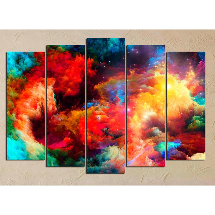 Модульная картина Объемные краски