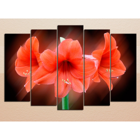 Три красные лилии