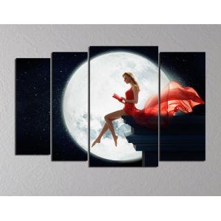 """Девушка на фоне луны"""