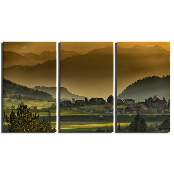 Модульная картина Деревенский пейзаж