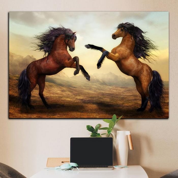 Картина Лошади на дыбах
