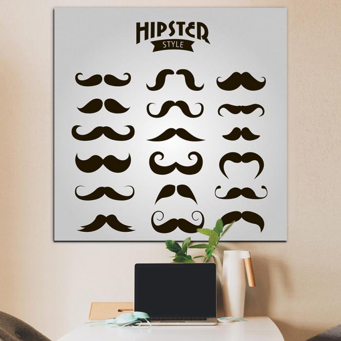 Постер Коллекция усов - хипстер стайл